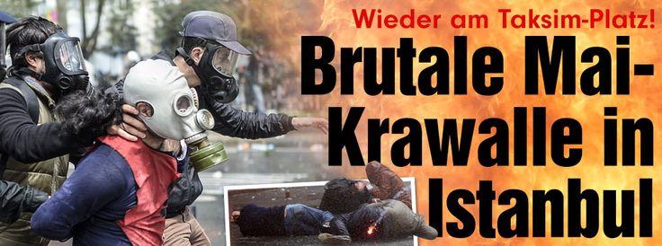 1.-Mai-Demonstrationen in Istanbul: Polizei setzt Tränengas und Wasserwerfer ein http://www.bild.de/politik/ausland/taksim-platz/erster-mai-krawalle-in-instanbul-40779476.bild.html