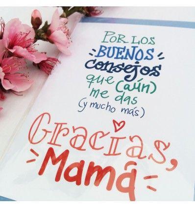 Tarjeta de felicitación consejos de mamá