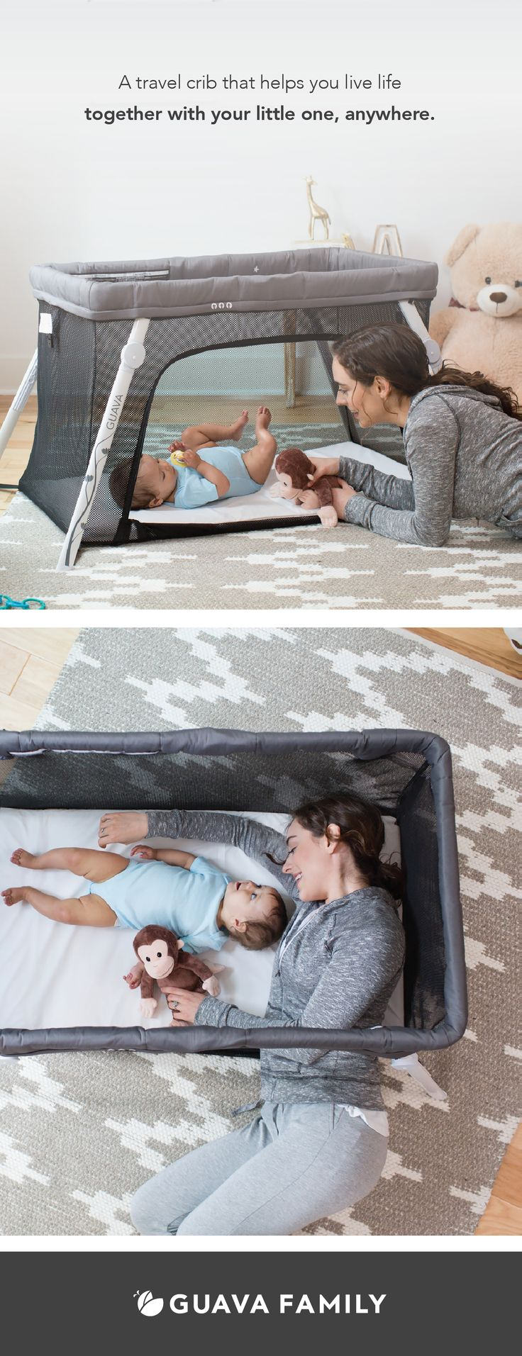 The Lotus Travel Crib is more than a travel crib. It's an everywhere crib. Ready to use on your next adventure, The Lotus Travel Crib packs easily into its included carry case that also turns into a backpack so you can take it anywhere while still carrying your baby and diaper bag.