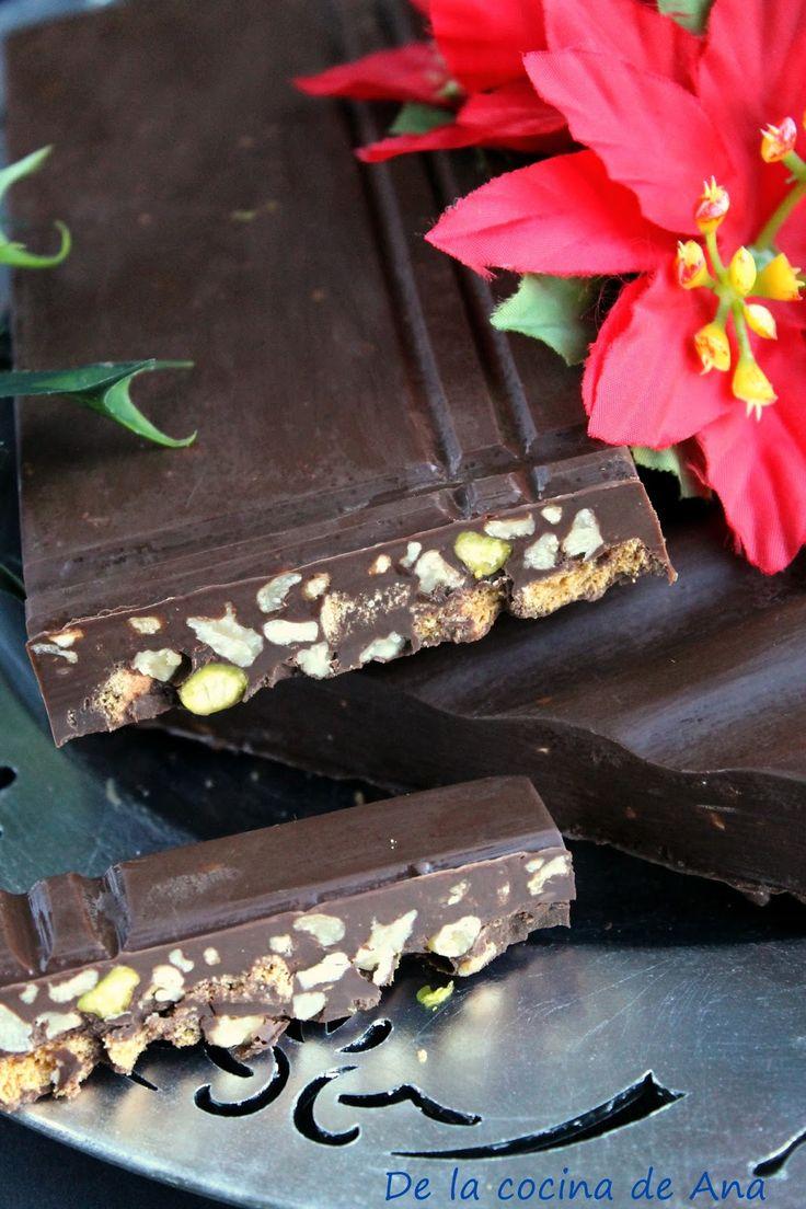 De la cocina de Ana: Turrón de Chocolate con Galletas y Frutos Secos