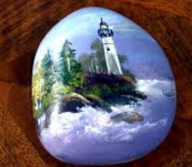 15 best images about lighthouse rocks on pinterest rocks are you looking for some very unique handmade gifts see some of the hand painted rocks i painted for sale below ausable point lighthouse sciox Image collections