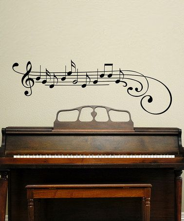 Would love to put this in our music room. :) Take a look at this Black Music Note Wall Decal by Wallquotes.com by Belvedere Designs on #zulily today!