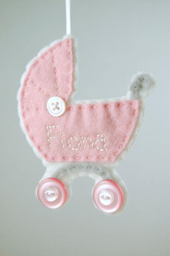 Bebé personalizada chica ornamento hecho a la medida del por Tumus