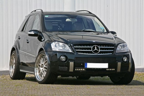 Mercedes ML63 AMG.  Another not so great on gas mobile, but super cute and zippy.