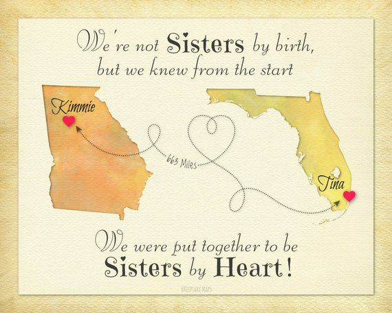 Not Sisters By Birth But Sisters By Heart Gift Birthday Gift Etsy Birthday Gifts For Best Friend Birthday Quotes For Best Friend Gifts For Friends