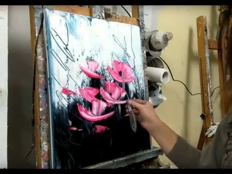 "PAINTING WITH EASY KNIFE ""MODERN FLOWERS"" – YouTube"