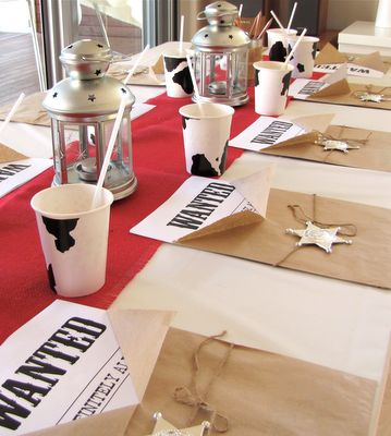 western table setting {cowboy party}