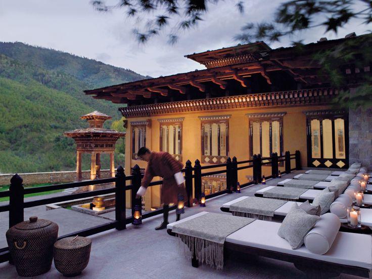 Terrace at Taj Tashi, Thimphu, Bhutan