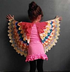 Soooo, cute handmade charlotte  DIY Bird Wings for Children