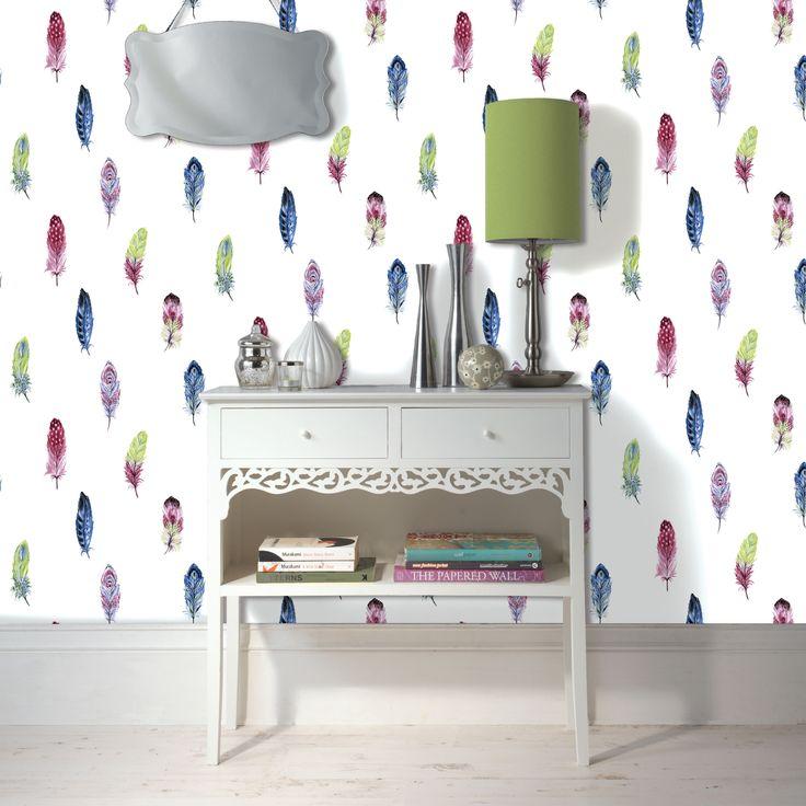 25 b sta feather wallpaper id erna p pinterest for B q bedroom wallpaper