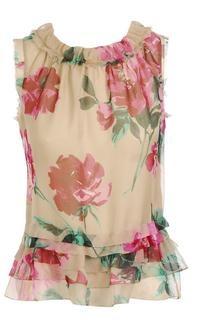 Dolce & Gabbana Floral Printed Silk Blouse - Lyst