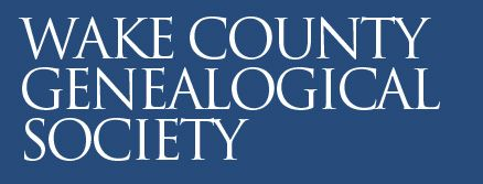 WAKE COUNTY, North Carolina -Wake County Genealogical Society