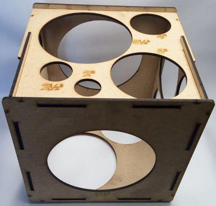 Medidores de balão caixa retangular com encaixe 35x38cm medidas de 2 a 10 polegadas com meia polegada de diferença ,medidor de mdf , medidor de balão latex, medidor de balões varias medidadas, medidores de bolas, medidor de bexigas
