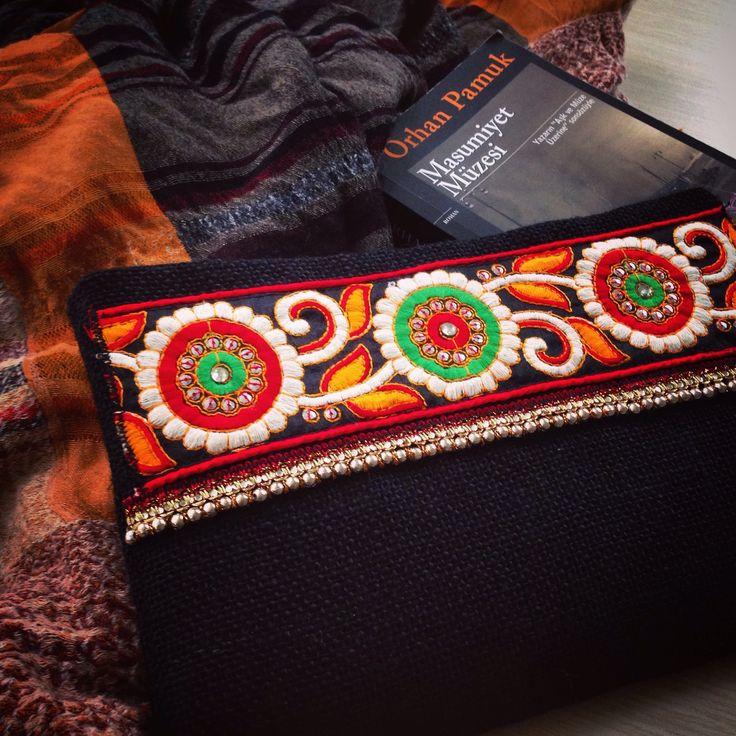 Boho Style Bag, Black Bohemian Handbag, Ethnic Handbag ...