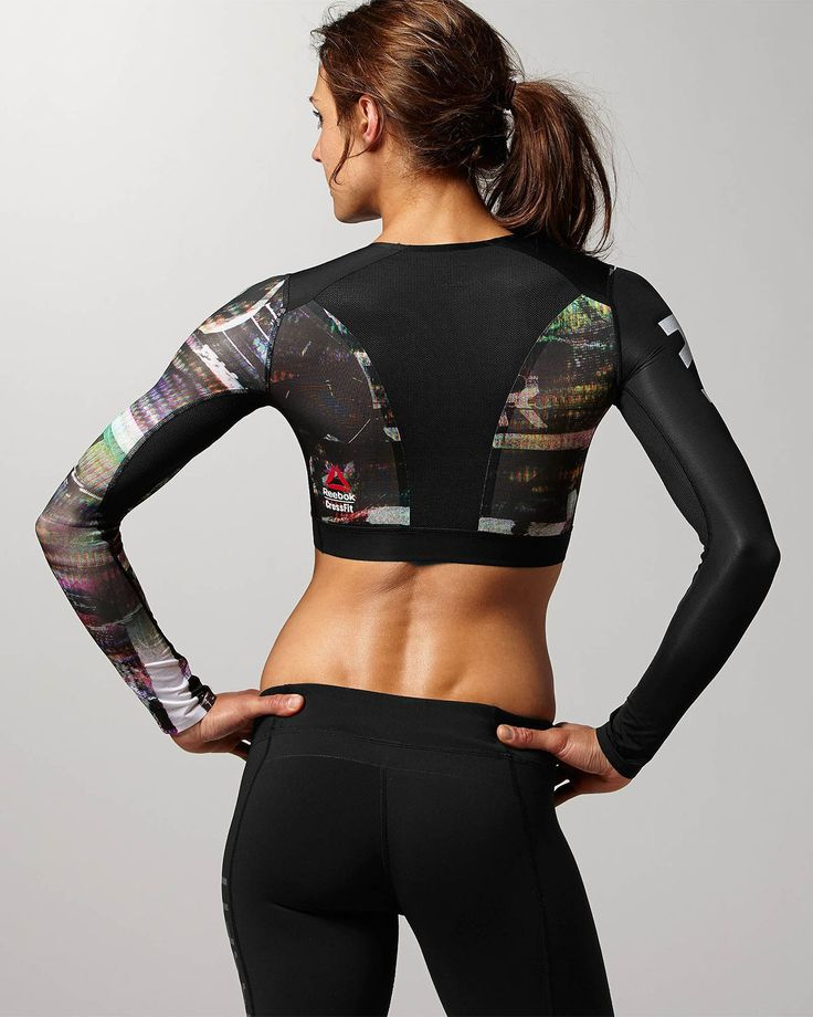 Her Reebok CrossFit Shadow II Compression Crop