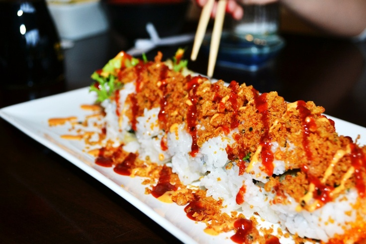 Any version of a crunchy spicy sushi roll