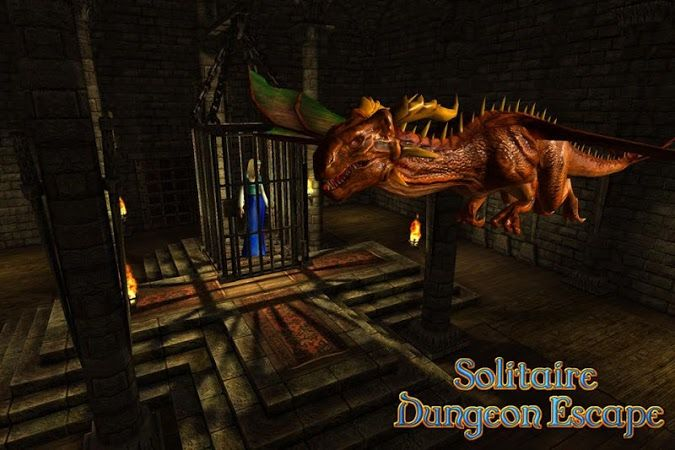 Solitaire Dungeon Escape v1.2Requirements: 2.3 +Overview: Your princess is locked up in the last room of an intricate dungeon, guarded by a dragon. 	The keys to open the doors, are split in 16 parts. 	The only way to get these parts is solving a card game with magic cards. 	Let the adventure...