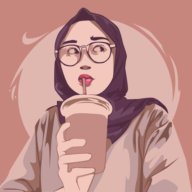 This is Jeyhan Aliyaa, i made her a Vector Art using Adobe illustrator