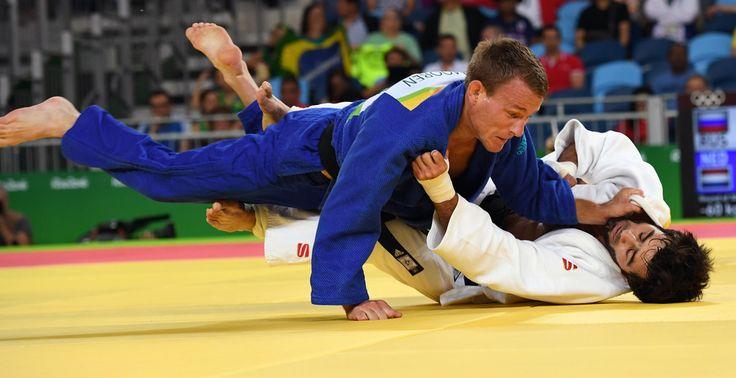 DAY 1:  Men's Judo - Jeroen Mooren of the Netherlands vs Beslan Mudranov of Russia