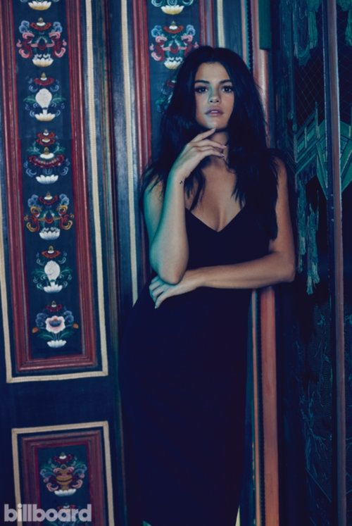Selena Gomez near the door for Billboard Magazine October 2015 Photoshoot