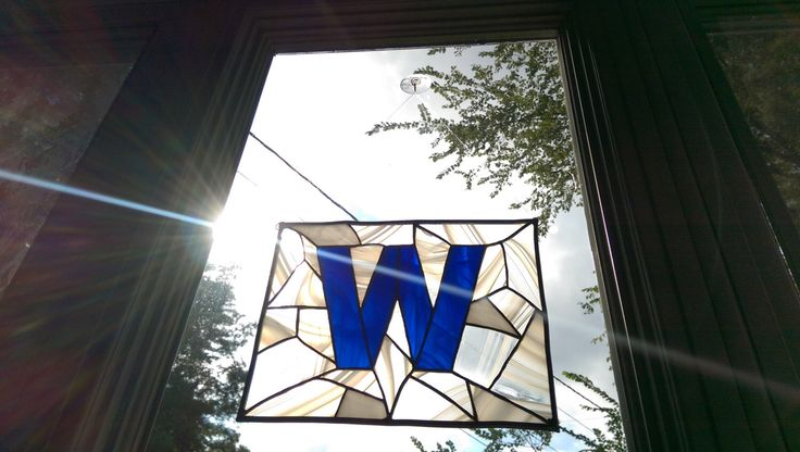 Cubs Flag Win Made into Stained Glass. by LazerByrdStudio on Etsy https://www.etsy.com/listing/251744419/cubs-flag-win-made-into-stained-glass