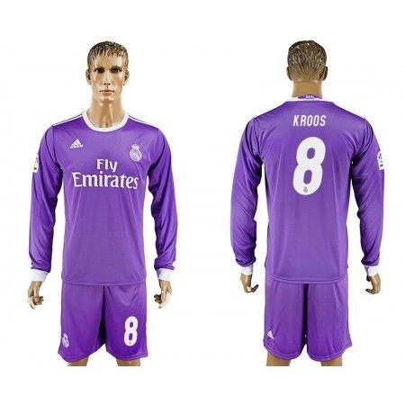 Real Madrid 16-17 Toni #Kroos 8 Udebanesæt Lange ærmer,245,14KR,shirtshopservice@gmail.com