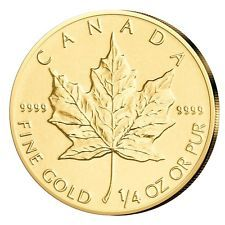 Maple Leaf Gold 1/4 oz Kanada aktueller Jahrgang 2018 Goldmünze 1/4 Unze