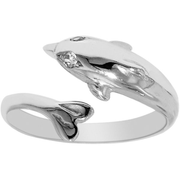 Sterling silver dolphin by pass style adjustable toe ring ($81) ❤ liked on Polyvore featuring jewelry, dolphin jewelry, sterling silver jewellery, sterling silver jewelry, nickel free sterling silver jewelry and sterling silver dolphin jewelry