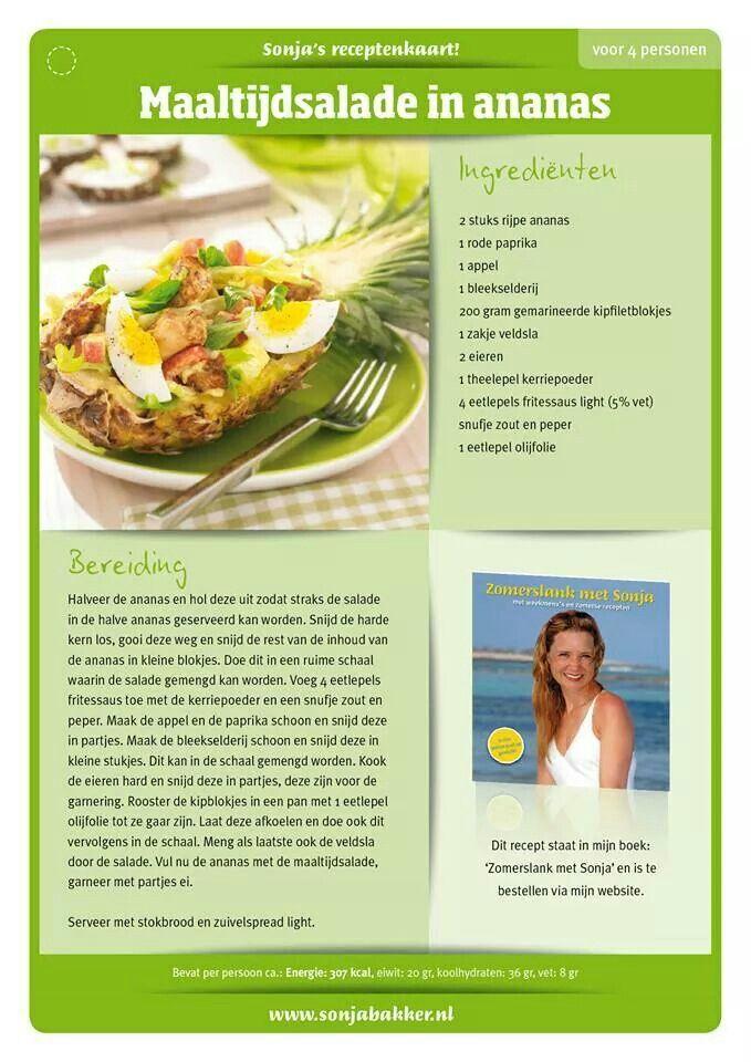 Maaltijdsalade in ananas - Sonja Bakker