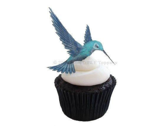 Zomg blue edible hummingbird aaah 12 edible for Hummingbird decor