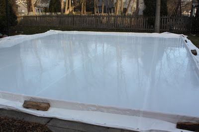 Homeade ice rink. Probably won't live somewhere cold enough to make one....