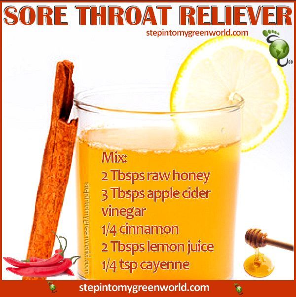 Home Remedies For Sore Throat With Apple Cider Vinegar