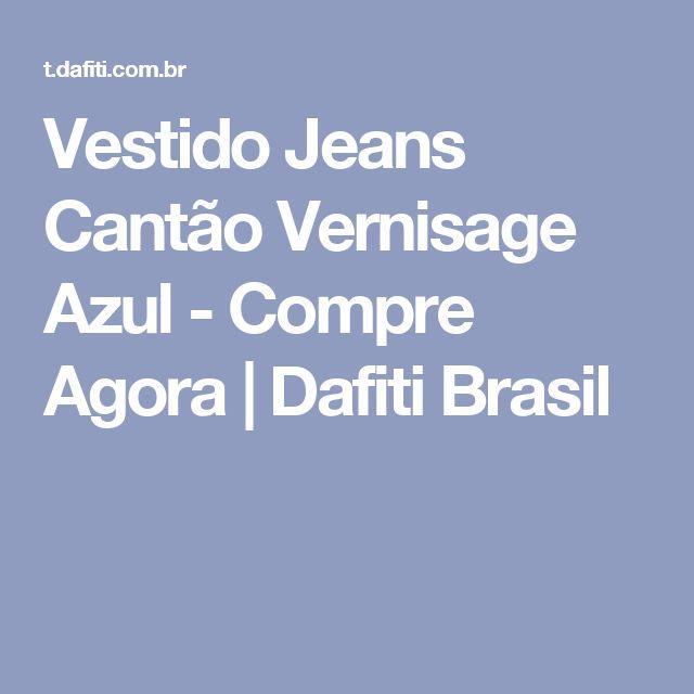 Vestido Jeans Cantão Vernisage Azul - Compre Agora | Dafiti Brasil