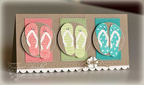 Color Blocked Flip Flops... by Lauraly - Cards and Paper Crafts at Splitcoaststampers
