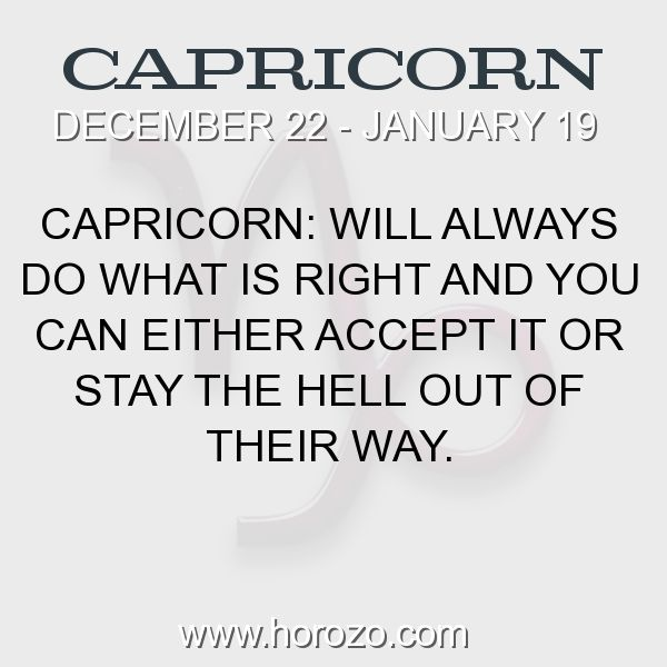 Fact about Capricorn: Capricorn: Will always do what is right and you can... #capricorn, #capricornfact, #zodiac. More info here: https://www.horozo.com/blog/capricorn-will-always-do-what-is-right-and-you-can/ Astrology dating site: https://www.horozo.com