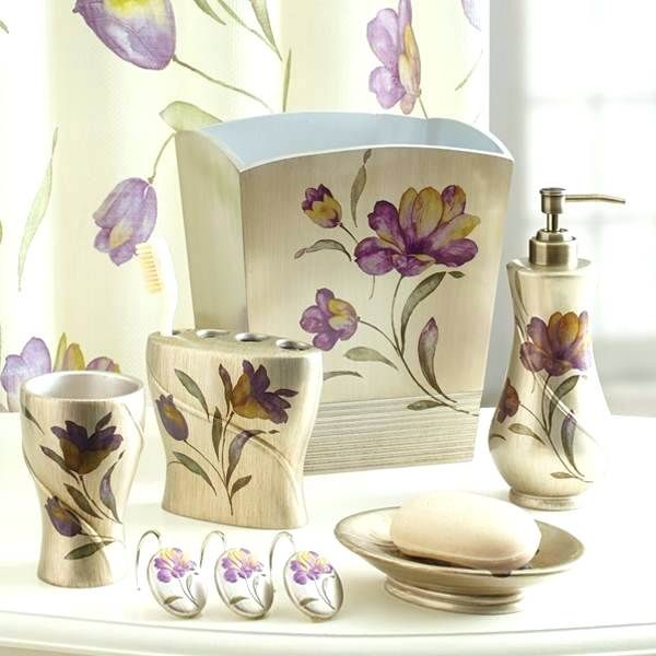 Purple Bathroom Accessories Sets.Green Bathroom Accessories Sets Bathroom Decor Purple