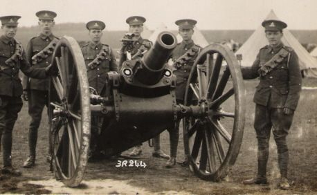 The Ordnance BL 5-inch howitzer was initially introduced to provide the Royal Field Artillery with continuing explosive shell capability. Territorial Force brigades continued to use the howitzer in World War I into 1916.