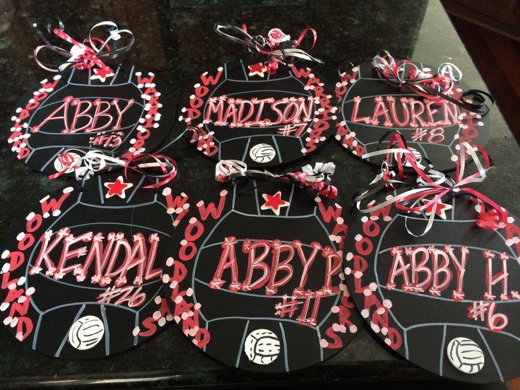 Volleyball locker spirit decorations