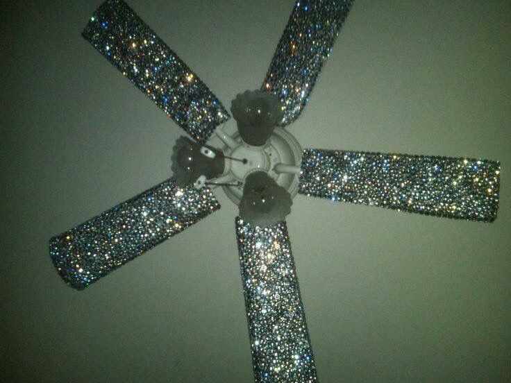 Glitter ceiling fan