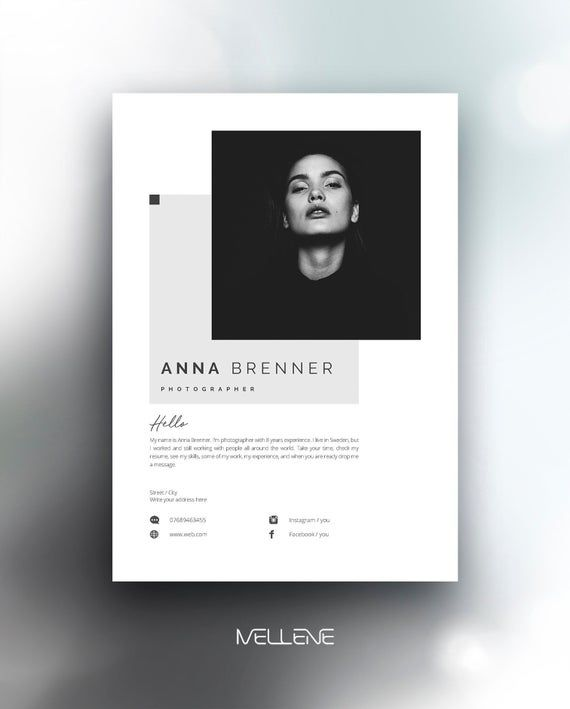 Resume Template 5 Page Cv Template Cover Letter Instant Download For Ms Word Anna Cv Template Resume Template Graphic Design Jobs