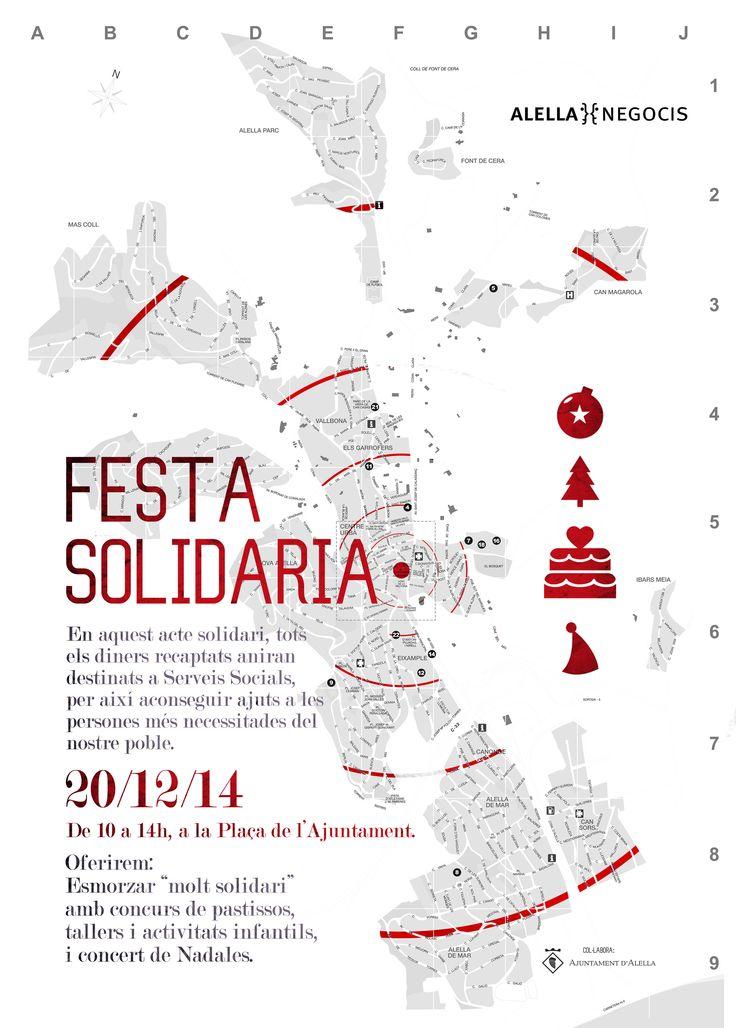 Cartell_ Festa solidaria Alella 2014 Alella Negocis