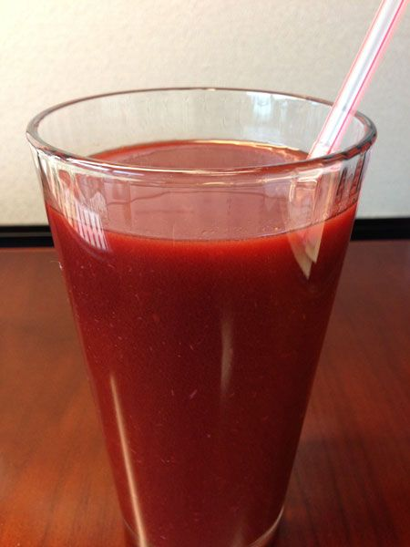 I just took my first shot at a Homemade Spicy V8 Juice Recipe, and I think I kind of love it. :)