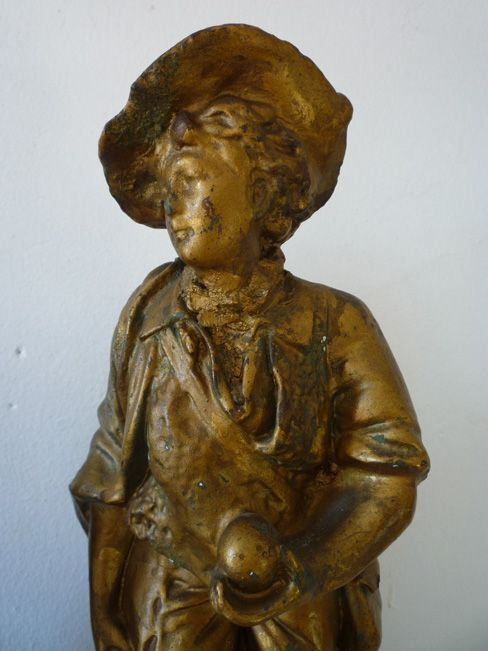 French chalkware statue