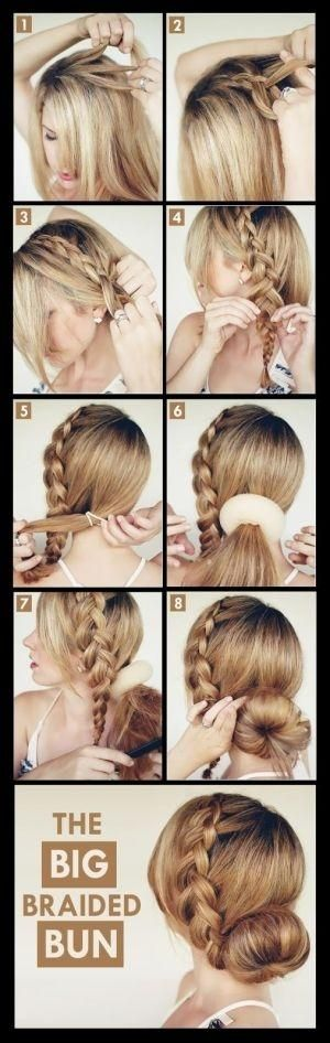 Make A Big Braided Bun For Your Self | hairstyles tutorial by Hairstyle Tutorials #hair #hairstyle #tutorial by Emily walkins