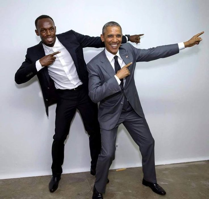 """How to know you're a """"big deal"""" - President Obama doing Usain Bolt's signature pose"""