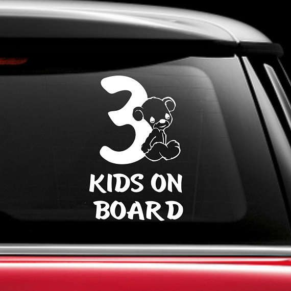 BABY ON BOARD STICKER DECAL SIGN CAR WINDOW SAFETY  REUSABLE BOY Footprints