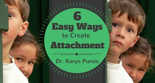 Easy, practical ways busy adoptive parents can create attachment and bonding with their adopted child-from Dr. Karyn Purvis, author of The Connected Child.