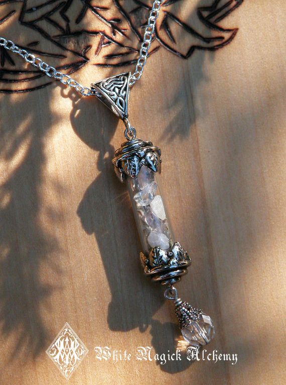 White Magick Alchemy - Witches Wisdom Alchemy Pendant Charm Necklace . Sacred Sage, Crystal Quartz, Healing, Spiritual Awakening, Abundance, $32.00 (http://www.whitemagickalchemy.com/witches-wisdom-alchemy-pendant-charm-necklace-sacred-sage-crystal-quartz-healing-spiritual-awakening-abundance/)