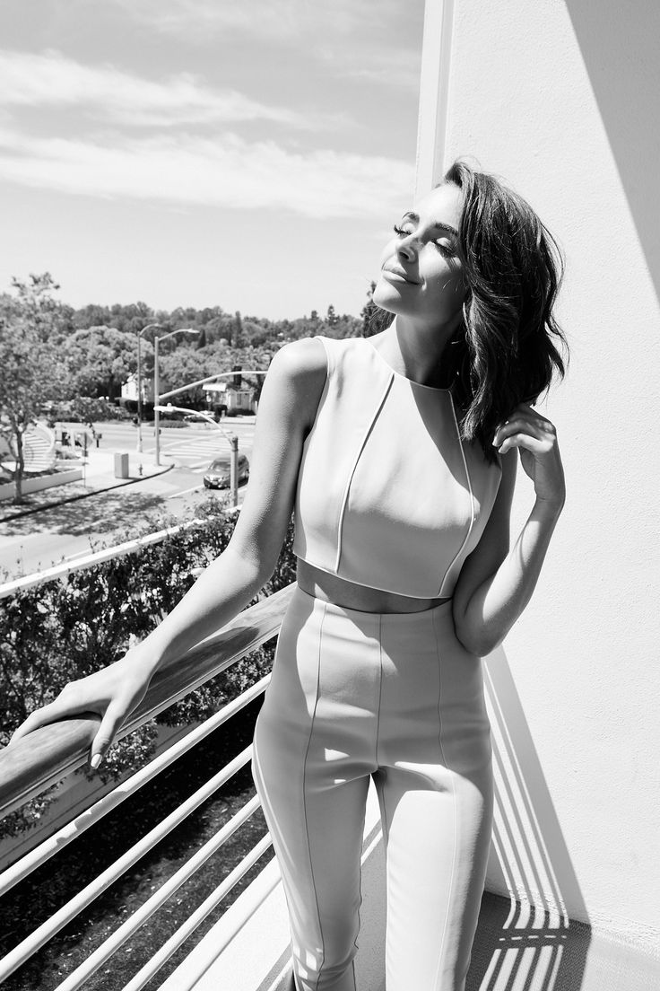 Olivia Culpo Shares Her Morning Beauty Routine and More: We talk to Culpo about how she's over risking it with hot tools, the pantry item she swears makes her hair Pantene-shiny, and more. -- Matching top and trouser set  |  coveteur.com