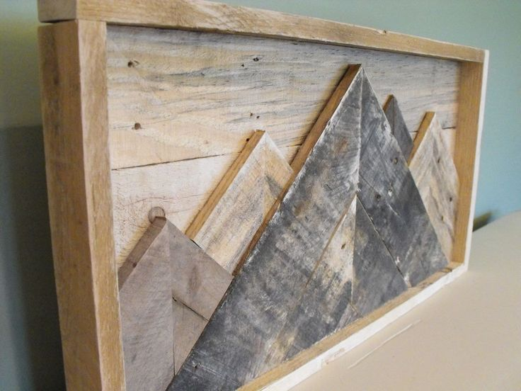 Mountainscape Mountains reclaimed pallet wood wooden sign rustic farmhouse decor wall art outdoors cabin country kitchen by HewnWoods on Etsy